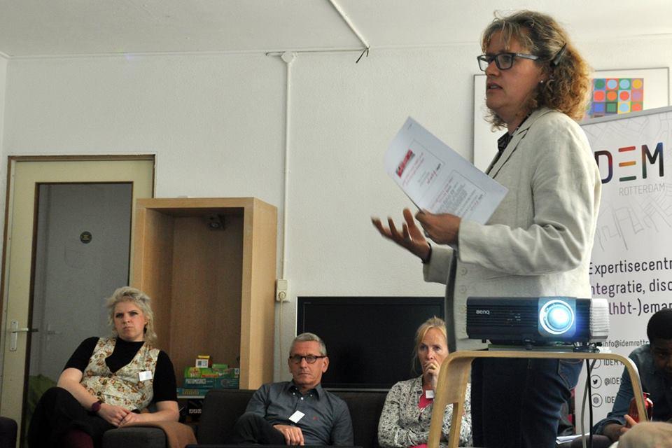 Presentatie door Sigrun tijdens het Kennisatelier.